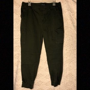 Army Green Cargo Jogger Pants